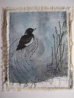 Louise Watson: Textile Art Goes All Natural - Mr X Stitch Thread Painting, Thread Art, Free Motion Embroidery, Embroidery Art, Embroidery Patches, Textile Fiber Art, Textile Artists, Textiles Techniques, Art Techniques