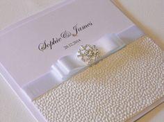 Luxury Handmade Wedding Invitation Snowflake x 1 by BeckybyDesign, £3.95