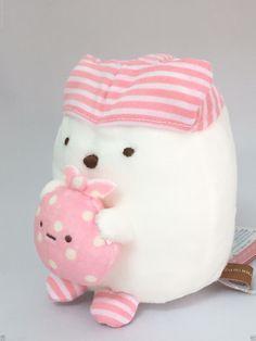 San-X Sumikko Gurashi Plush Doll Polar Bear Shirokuma Kawaii From JAPAN