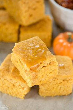 Perfectly moist Slow Cooker Pumpkin Maple Cornbread is so easy to make all in the crock-pot. It's soft & slightly sweet & best with some hot chili or soup.