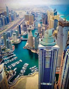 Dubai is moving closer to my number one ideal destination! Look at all that architecture. Crazy opulence that would be unreal in person.