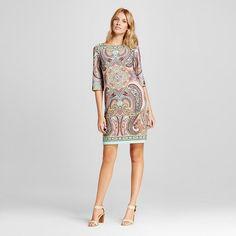 Women's Square Neck Printed Knit Dress - Studio One New York : Target