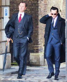 The ever dapper Jimmy (Andrew Scott) and Mycroft (Mark Gatiss) <3