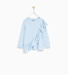 Image 1 of FRILLED T-SHIRT from Zara