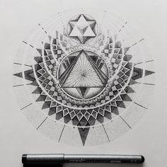 Cleaning up, dug up an old one. Might frame it and put it up for sale. #geometric #dotwork #mandala #illustration #copic #iblackwork #blxckink