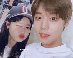 hi! i'm back~ hehe - - - #choiyoojung #yoojung #parkjihoon #jihoon #ioi #wekimeki #wannaone #wannaioi #winkdaeng Choi Yoojung, Kpop Couples, Ulzzang Couple, Photos Tumblr, Couple Aesthetic, Ioi, Best Couple, Aesthetic Wallpapers, Twins