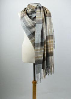 Lambswool Blanket Scarf in Mackellar Tartan