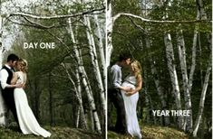 Returning to the spot where your wedding pictures were taken to do a maternity shoot. I rarely find wedding and/or maternity portraits special or unique, but this is a really sweet idea.