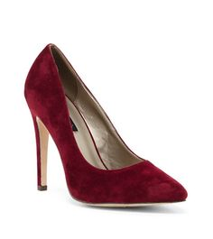 Pantofi stiletto catifea rosu bordo Stiletto Heels, Pumps, Casual, Shoes, Fashion, Moda, Zapatos, Shoes Outlet, Fashion Styles