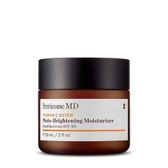This fast-absorbing, oil-free moisturizer with SPF delivers powerful antioxidant benefits that help minimize the appearance of wrinkles and imperfections.  Our skin brightening moisturizer is formulated with Vitamin C Ester to give the appearance of collagen-rich skin by visibly smoothing, brightening and minimizing discoloration over time. Alpha lipoic acid reduces the appearance of fine lines and wrinkles for a more potent anti-aging face cream. Get the benefits of a powerful face… Anti Aging Moisturizer, Moisturizer With Spf, Perricone Md, Coconut Oil For Face, Homemade Face Masks, Peeling, Action, Broad Spectrum, Skin Brightening