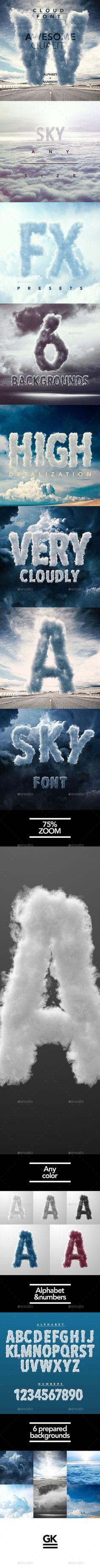 3D Sky / Cloud font mock up Design Template PSD - Miscellaneous Product Mock-Ups. Download here: http://graphicriver.net/item/3d-sky-cloud-font-mock-up/12955563?s_rank=17&ref=yinkira