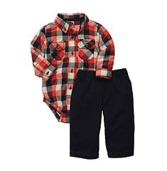 Carter's® Baby Boys' Navy/Red 2-pc. Woven Pants Set