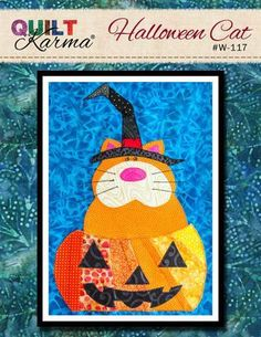 (7) Name: 'Quilting : Halloween Cat - Quilt Karma