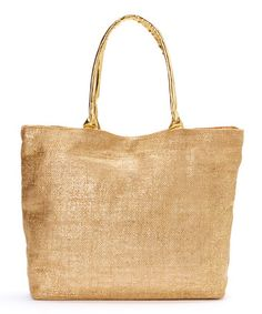 Sand & Gold Jute Tote