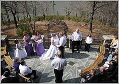 The Table Rock Lodge patio, with a beautiful view of Table Rock makes a perfect outdoor mountain wedding venue.  You can then use the lodge interior for a reception area.  Table Rock State Park, Pickens, SC