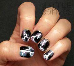 Lightning Bolt Nail Art. :)