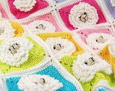 CROCHET PATTERN: teddy bear crochet baby blanket pattern and step-by-step tutorial, Häkelanleitung, baby afghan Crochet Square Patterns, Crochet Chart, Crochet Blanket Patterns, Baby Blanket Crochet, Baby Patterns, Afghan Crochet, Afghan Patterns, Crochet Hook Case, Crochet Hooks
