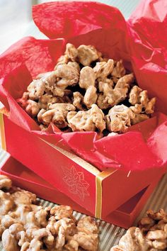 Praline Pecans - Most Pinned Christmas Dessert Recipes - Southernliving. No matter how you make pralines–with brown sugar or white sugar, evaporated milk or buttermilk–they are one of the paramount Southern treats.Recipe: Praline Pecans