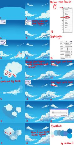 Clouds tutorial by Piromanova.deviantart.com on @DeviantArt