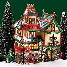 """Department 56: Products - """"Glass Ornament Works"""" - View Lighted Buildings"""