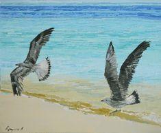 Gaviotas III – Belén Eizaguirre Alvear Bird, Animals, Gull, Oil On Canvas, Canvases, Animales, Animaux, Birds, Animal
