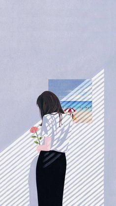 Ideas Flowers Drawing Wallpaper Art Illustrations For 2019 Aesthetic Art, Aesthetic Anime, Couple Aesthetic, Cover Wattpad, Digital Foto, Posca Art, Poster S, Wow Art, Cartoon Wallpaper