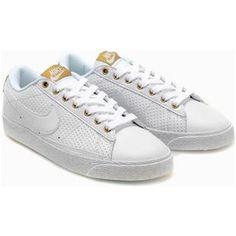 Nike Blazer Women Low Shoes White Gold