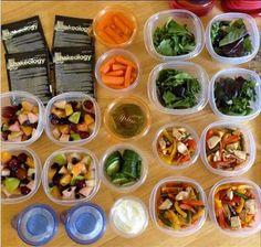 Planifica tus comidas de la sema, esto te hará más fácil mantenerte enfocada...con los envases de medir porciones de 21 day fix eliminas las adivinanzas; porción adecuada, calorías correctas,  simple! Le das a tu cuerpo lo que necesita para estar en óptimas condiciones. Amo 21 day fix porque me simplifica la vida en la cocina!
