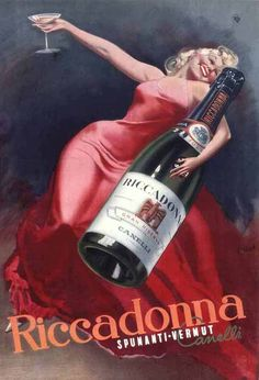 Vermouth Riccadonna. Alcohol Vintage poster / vieille affiche publicitaire…