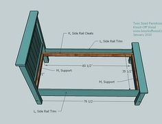 Ana White   Build a Twin Farmhouse Bed   Free and Easy DIY Project and Furniture Plans
