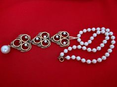 Nicely constructed vintage pearl 17 necklace with 55 by jeanmc, $20.00