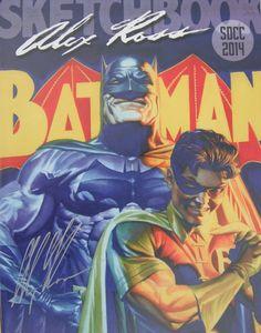 ALEX ROSS new SKETCHBOOK 2014 SDCC exclusive SIGNED Batman Defenders covers NM!!