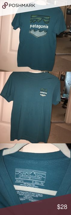 Patagonia t-shirt Men's slim fit Small- can fit a women's Small or a smaller medium! Mint condition. Worn 2 times Patagonia Tops Tees - Short Sleeve