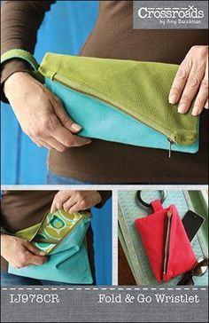 Fold & Go Wristlet sewing pattern