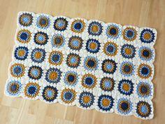 finished! granny square blanket