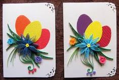 Znalezione obrazy dla zapytania quilling easter cards