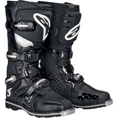 Alpinestars Tech 3 MX Offroad Boots Black ATV 7 USA -- This is an Amazon Affiliate link. More info could be found at the image url.