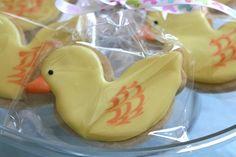 Cute baby or infant duck cookies. :)