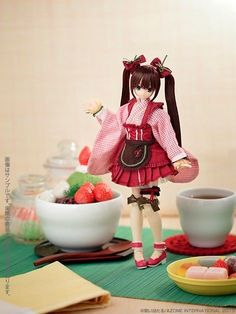"Azone 1 6 Doll Pure Neemo Sweets A La Mode Strawberry Anmitsu ""Yuzuha"" Limited 
