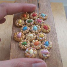 Miniature Italian Easter bread.