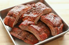 Memphis Style Dry Ribs {On the Grill or In The Oven} recipe by Barefeet In The Kitchen JS use cooking instructions for oven Ribs Au Barbecue, Ribs On Grill, Pork Ribs, Boneless Ribs, Pork Spare Ribs Oven, Pork Spare Ribs Grilled, Smoked Pork Spare Ribs, Rub Recipes, Grilling Recipes