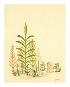 """Sharing Next to Plants"" print by scott c"
