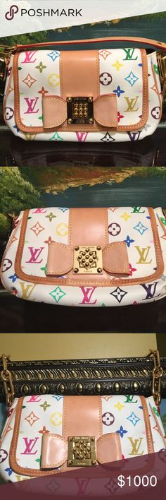 Beautiful beautiful LOUIS VUITTON MULTICOLOR BAG BEAUTIFUL LOUIS VUITTON TAKASHI MURAKAMI COLLECTIONS, this is not longer made.Limited edition excellent condition. Louis Vuitton Bags Shoulder Bags