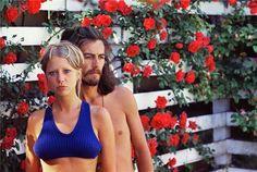 Pattie and George's rose garden - 1968