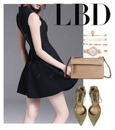 """LBD"" by masayuki4499 ❤ liked on Polyvore featuring Steve Madden, Tumi and Anne Klein"