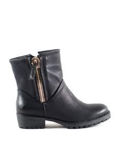 ΜΠΟΤΑΚΙ ΜΑΥΡΟ Bellisima, Biker, Ankle, Boutique, Boots, Fashion, Crotch Boots, Moda, Wall Plug