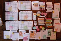 Some super cute ideas to make your own Project Life cards and embellishments.