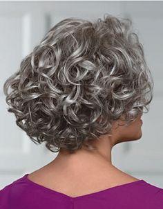Meryl Wig by Paula Young :: Paula Young :: Wig Collections :: Wigs :: Natural Image Wigs Short Permed Hair, Grey Curly Hair, Short Curly Haircuts, Medium Bob Hairstyles, Haircuts For Fine Hair, Curly Hair Cuts, Curly Bob Hairstyles, Short Hair Cuts, Curly Hair Styles