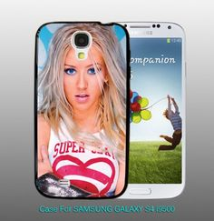 Christina Aguilera - Super Sexy, For Samsung S4 i9500 Black Case