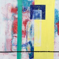 Ghosts Beachlife - #nikicottonartdotcom #painting #abstract #acrylic #oil #spraypaint #art